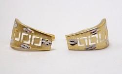 Sárga fehér arany fülbevaló (ZAL-Au84540)