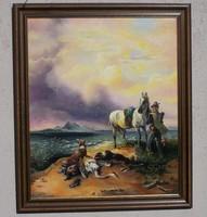 Vadászat olajfestmény olaj festmény