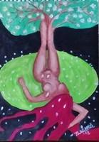 A kép cime:Tavasz.Saját fstményem.Akrilfestékkel készült feszített vászonra.Mérete 70x50 cm.
