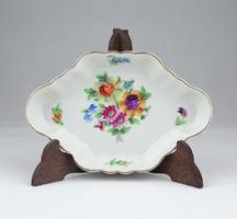 0Y450 Régi virágmintás Herendi porcelán hamutál