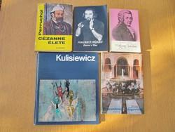 Művészeti könyvek - Kulisiewicz / Cézanne / Maurice Béjart / Mozart / Granadától Segoviáig