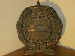 Egy igazi kincs, hatalmas bronz Kádár címer