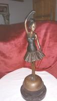 Balerina   táncoló   bronz  szobor   47   cm  magas   17  széles   75000  ft