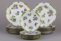 6 személyes Herendi Viktória mintás tányér készlet II.