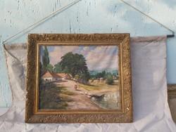 Neogrády jellegű antik festmény.