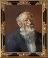 Adilov Kabul - Rabbi tekintete, olajfestmény, Eredetigazolással,Visszavásárlási garanciával!