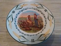 Régi Holland porcelán dísz tányér