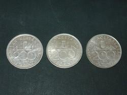 EZÜST 200 FORINT 1992,1993,1994   3 DB!!