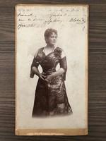 Blaha Lujza eredeti autográf CVD fotó 1900. október 22.