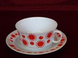 Alföldi porcelán napocskás teáscsésze + alátét.