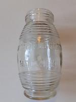 Régi mustáros üveg Mocznik L. palack 19 cm