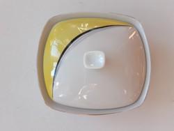 Retro Hollóházi porcelán bonbonier cukortartó dísztárgy