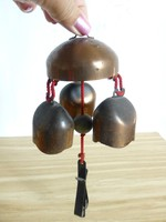 Antik szép hangú,vörösréz boltos csengő,virágos nyelvvel,harang II.