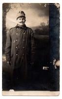 I. Világháborús katona fotó levelezőlap képeslap 1915