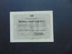 30 krajcár 1849 Kossuth bankó   02