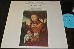 PRAETORIUS Weihnachtliche Chormusik LP bakelit lemez