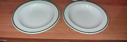 Alföldi  hibátlan  porcelán mélytányérok jelzett  2 db, 70-80-as évekből !