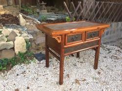 Antik kínai, fiókos konzolasztal, oltárasztal.
