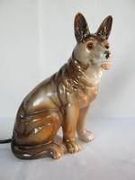 Porcelán kutya hangulatlámpa lámpa