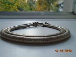 Ezüstös színű Kötél fém nyaklánc vékony drótból fonott