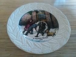 Angol Coalport porcelán dísz tányér