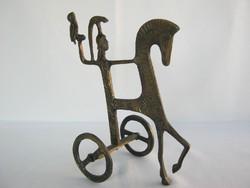 Art deco réz szobor