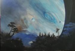 A kék bolygó, festmény eladó