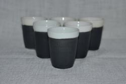 6 db dombor nyomott Douwe Egberts feliratú kávés pohár készlet  ( DBZ 00120 )