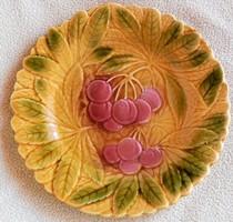 Sarreguemines Fajansz ( Cseresznyés) tányér