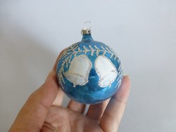 Retro,vintage,üveg festett gömb karácsonyfadísz