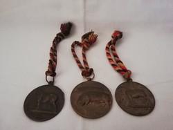 3 db bronz Ministériumi talán állattenyésztési kitüntetés egyben!