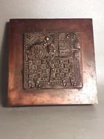 Különleges Kopcsányi Ottó - Páncélos lovas vitéz - vörösréz bronz díszdoboz - doboz