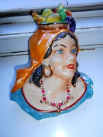 Kerámia fali kép-női portré