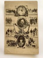 Régi képeslap 1914 a háború emlékére I. vh. levelezőlap