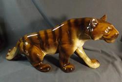 Régi  porcelán tigris  nagy méret