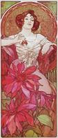 Alfons Mucha: Drágakövek - Rubin. Kitűnő minőségű reprint nyomat paszpartuval