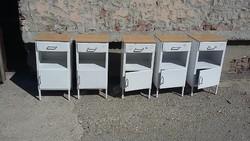 5 db retro fém korházi szekrény