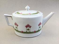Szecessziós porcelán teáskanna kiöntő