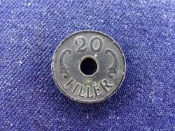 Háború alatti (1940-1944) 20 fillér 1943 BP / id 11217/