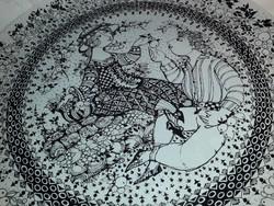 Rosenthal Björn Wiinblad limitált jelzett ŐSZ porcelán fali tál nagy méretű 35 cm átmérővel