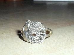 Régi Páva mint.Tibeti ezüst ötvös gyűrű 7-es