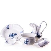 Angol kerámia mosakodó készlet (fehér - kék)