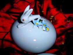 Tertia  nyuszi fogós  porcelán  cukortartó doboz 11,5 cm
