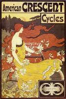 American Crescent Cycles kerékpár/bicikli hirdetés. Szecessziós vintage/antik reklám plakát reprint