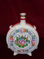Hollóházi porcelán kulacs, átmérője 16,5 cm. Vitrin minőség.