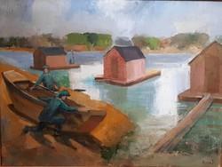 Rozs János (1901 - 1987) : Halászbárkák