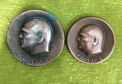 Komjádi emlékplakettek 1934.