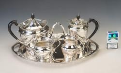 Ezüst Bachrush szecesszió 4 személyes kávés készlet. RITKA!