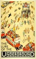 Londoni metró/földalatti közlekedési plakát, Alfred Leete 1927. Vintage/antik plakát reprint