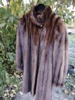 Extra szép Saga mink  egészbőrös nerc bunda molett 40 42100 mell 93 hosszú pár éves nem retró fazon